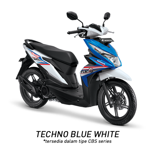 Honda BeAT eSP Techno Blue White